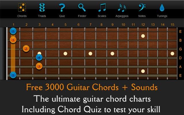 Chord Finder Free Guitar Chords Guitar Scales Chordfinder
