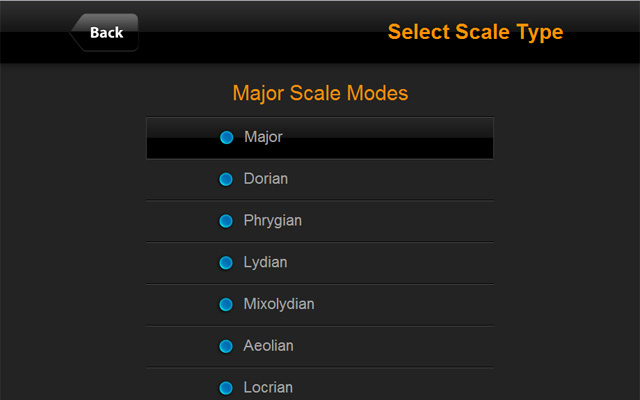 Select Guitar Scale Type - ChordFinder.com